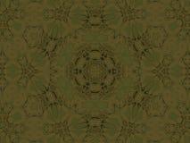 无缝的装饰品橄榄绿褐色 皇族释放例证
