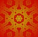 无缝的装饰品红色金子 免版税库存图片