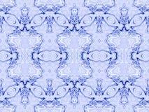 无缝的装饰品蓝色白色 皇族释放例证