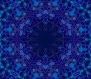 无缝的装饰品蓝色紫色 向量例证