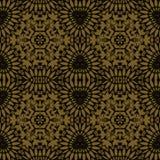 无缝的装饰品金子黑色 向量例证