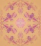 无缝的装饰品紫罗兰色紫色杏子颜色 向量例证