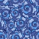 无缝的装饰波浪样式明亮的蓝色 免版税库存图片