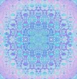 无缝的规则圆的装饰品桃红色紫罗兰色紫色绿松石 免版税库存照片