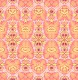 无缝的规则样式黄色桃红色紫罗兰 皇族释放例证