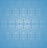 无缝的规则被弄脏的样式淡色蓝色 向量例证