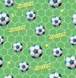无缝的足球样式 库存例证