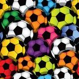 无缝的足球纹理 免版税库存图片