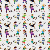 无缝的足球运动员模式 图库摄影