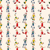 无缝的足球运动员模式 库存照片