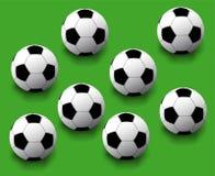 无缝的足球 库存图片