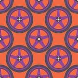 无缝的轮子样式 库存例证