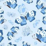 无缝的逗人喜爱的蝴蝶图案 免版税库存照片