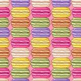 无缝的逗人喜爱的macarons样式 库存照片