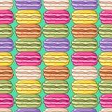 无缝的逗人喜爱的macarons样式 免版税库存图片