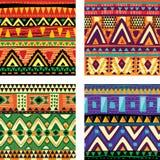 无缝的部族纹理 免版税库存图片