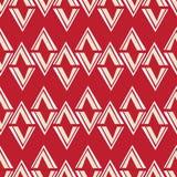 无缝的金刚石样式有在红色背景 免版税库存图片