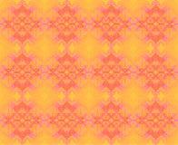 无缝的金刚石样式橙黄紫罗兰 向量例证