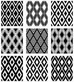 无缝的金刚石样式 被设置的几何纹理 库存图片