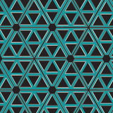 无缝的金属样式工业蓝色的栅格 免版税库存照片