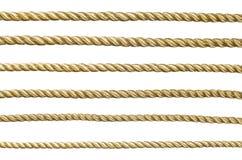 无缝的金黄绳索 库存照片