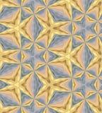 无缝的金黄和银色色的多角形样式 金属色的几何抽象背景 免版税库存图片
