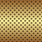 无缝的金黄圈子穿孔的盘区 库存图片
