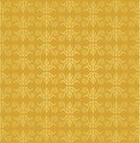 无缝的金黄花卉墙纸样式 向量例证