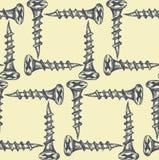 无缝的钉子样式背景 样式剪影 免版税库存图片