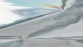 无缝的银色全息照相的液体背景动画 皇族释放例证