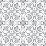 无缝的银色花卉皇家墙纸 库存照片