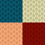 无缝的锦缎墙纸 免版税图库摄影