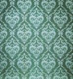 无缝的锦缎绿色墙纸 免版税图库摄影