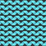 无缝的镶边波动图式 库存照片