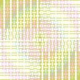 无缝的长方形样式淡色绿色桃红色黄色 免版税库存照片