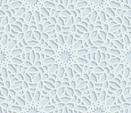 无缝的阿拉伯几何样式,东部装饰品,印地安装饰品,波斯主题 向量例证