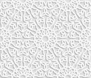 无缝的阿拉伯几何样式,东部装饰品,印地安装饰品,波斯moti 库存例证