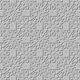 无缝的阿拉伯石蔓藤花纹背景 库存照片