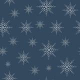 无缝的雪花样式eps10 免版税库存照片