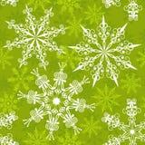 无缝的雪花模式,   免版税库存图片