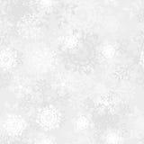 无缝的雪花模式 免版税库存图片