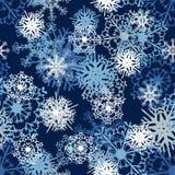 无缝的雪花模式 免版税图库摄影