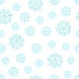 无缝的雪花模式 图库摄影