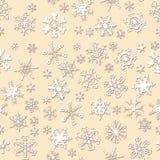 无缝的雪花模式 库存图片