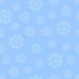 无缝的雪花蓝色样式 库存照片