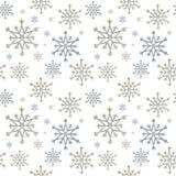 无缝的雪花 库存图片