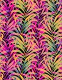 无缝的霓虹棕榈样式 免版税库存照片