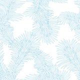 无缝的霜冰样式 抽象冬天 库存图片