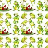 无缝的青蛙 免版税库存照片
