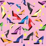 无缝的鞋子结构 免版税库存图片